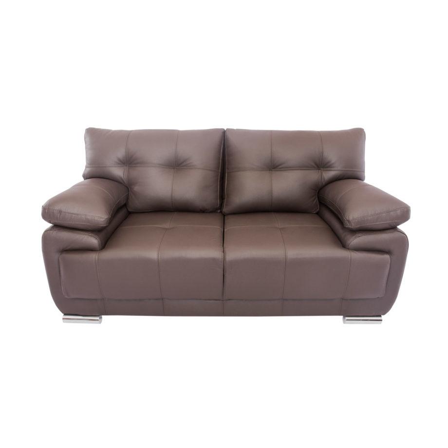 Vista lateral del sofá de la Sala Rigal 3-2-1 Nogal - 2