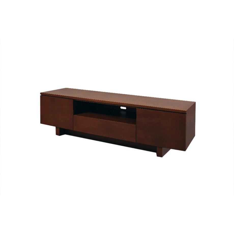 Vista lateral del mueble de TV Nora