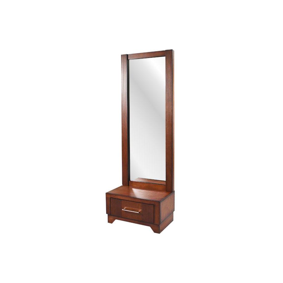 Vista lateral del espejo de la recámara Lowen