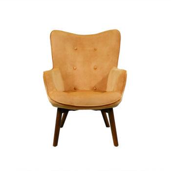 Elegante sillón de color anaranjado