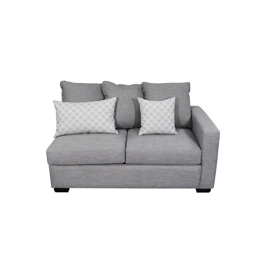 Vista frontal del sofá de la sala modular oslo
