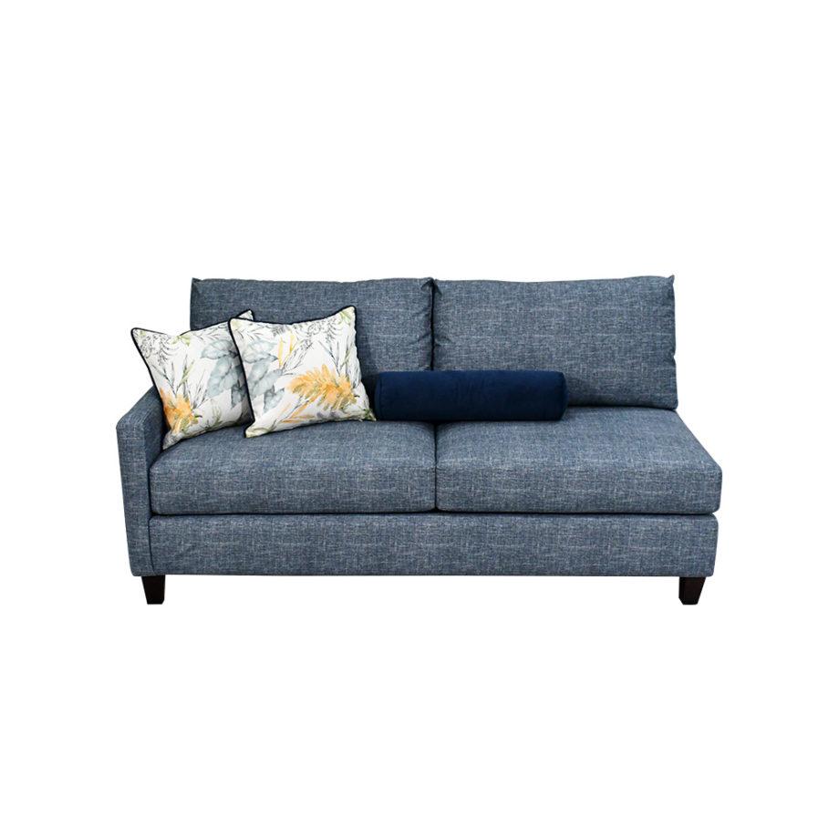 vista frontal del sofá de la sala modular san diego