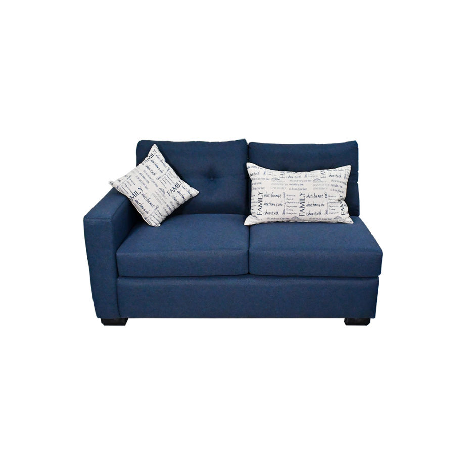 Vista frontal del sofá de la sala-modular Suecia