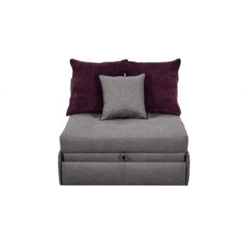 Vista frontal de Sofá Cama Alista individual en forma de sillón