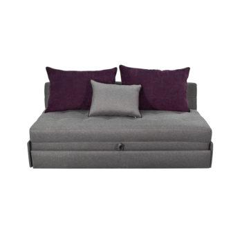 Vista frontal del sofá cama alista king size como sofá
