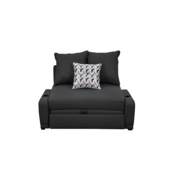 Vista frontal del sofá cama kambas montreal como sillón