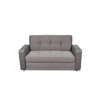 Vista frontal del sofá cama simoneta corona como sofá