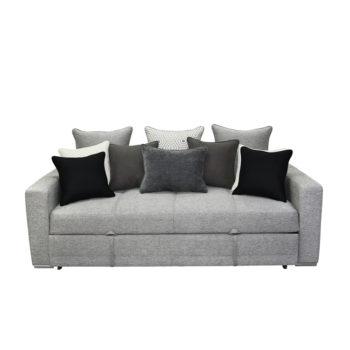 vista frontal del sobrio sofá cama Magallanes Florela